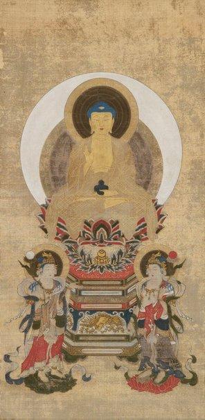 An image of Yakushi Nyorai triad by