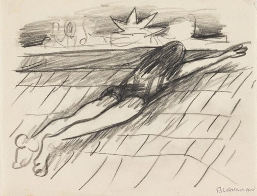 An image of (Sunbather) by Charles Blackman