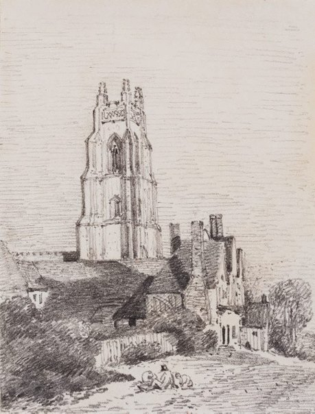 An image of Stoke-by-Nayland Church by John Constable