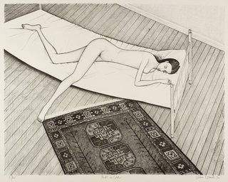 AGNSW collection John Brack Nude on bed 1972