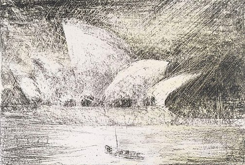 An image of Tribute to Jørn Utzon by Lloyd Rees