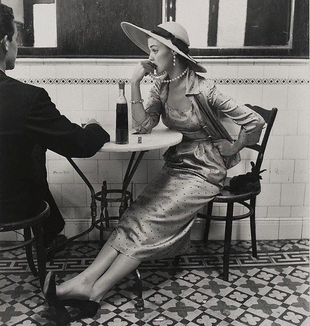 An image of Vogue fashion photograph, Café in Lima, Peru (Jean Patchett)