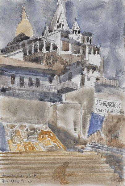 An image of Anandamai Ghat by Judy Cassab