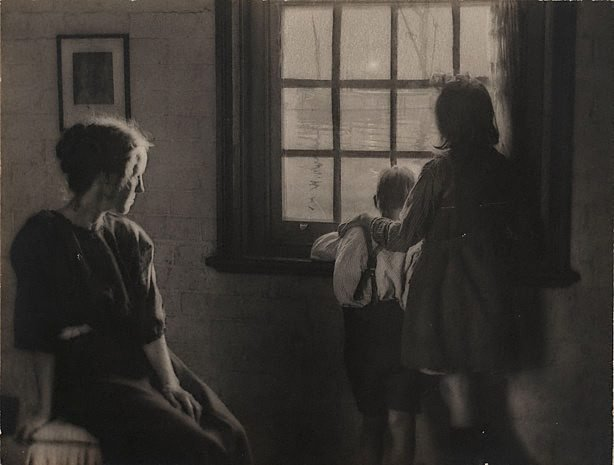 An image of Untitled (children at window)
