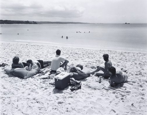 An image of View north-west from Green Patch Beach, Jervis Bay by Peter Elliston