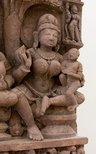 Alternate image of Stele with 'yaksha-yakshini' couple and Jinas by