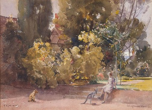 An image of The homestead garden by BE Minns