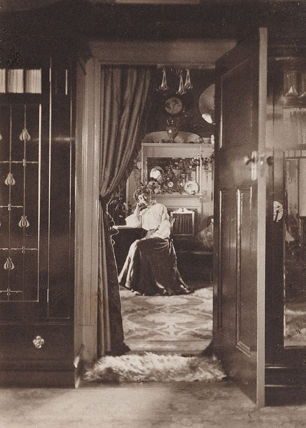 An image of Untitled (early interior with seated woman)
