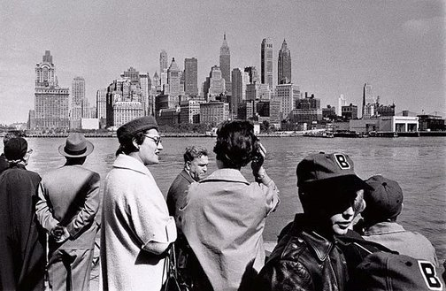 An image of On the Staten Island ferry, New York by David Moore