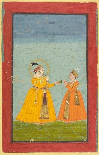 AGNSW collection Rana Jagat Singh II and Pratap Singh II circa 1740-1750