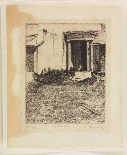 An image of The little porch, Campbelltown by Sydney Ure Smith