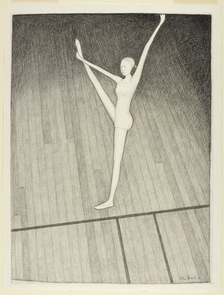 AGNSW collection John Brack One balancing girl 1973