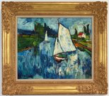 Alternate image of Sailing boats at Chatou by Maurice de Vlaminck