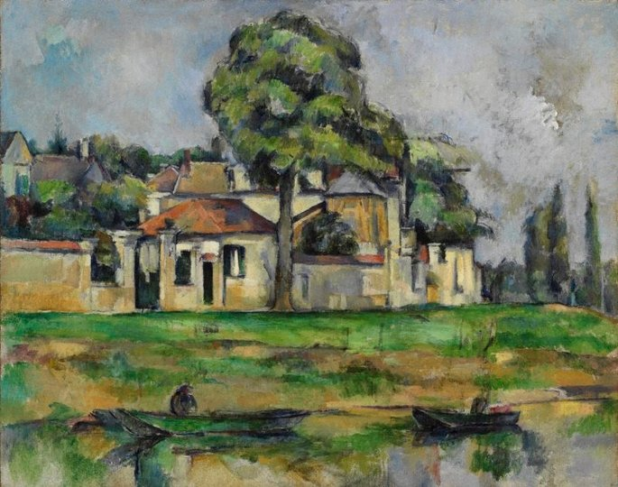 AGNSW collection Paul Cézanne Banks of the Marne (circa 1888) 320.2008