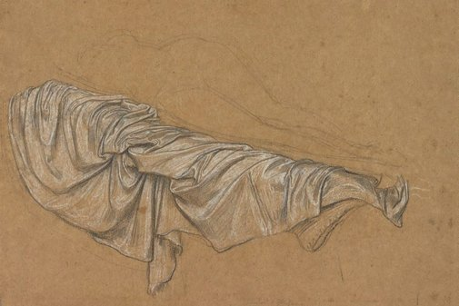 An image of Drapery study for Cymon and Iphigenia by Frederic, Lord Leighton