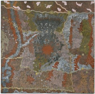 AGNSW collection Clifford Possum Tjapaltjarri, Tim Leura Tjapaltjarri Warlugulong 1976