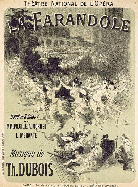 An image of La Farandole by Jules Chéret
