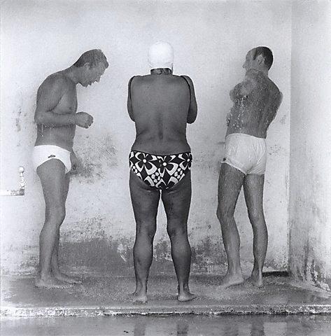 An image of Fresh air showers, Bronte Beach Sydney by John F Williams