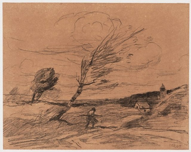 An image of The gust of wind
