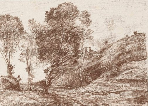 An image of Remembrance of Italy by Camille Corot