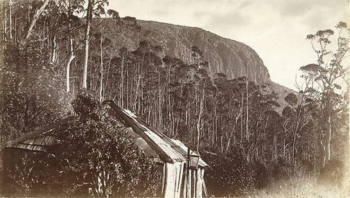 An image of The cliffs, from the Springs by Henry Hall Baily