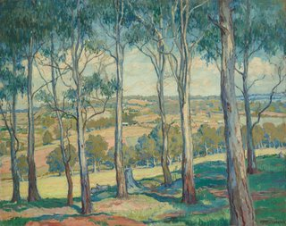 Through the gum trees, Toongabbie, (circa 1920) by Hilda Rix Nicholas