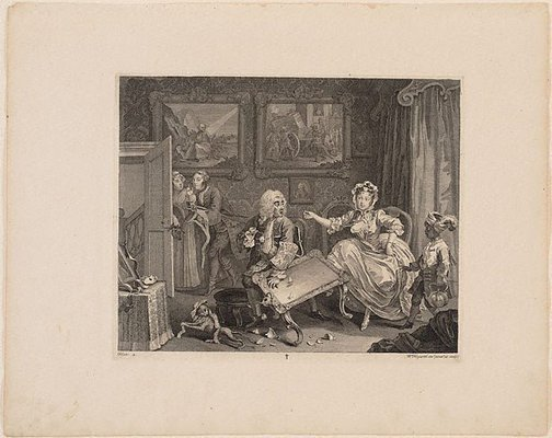 An image of A Harlot's Progress: plate 2 by William Hogarth
