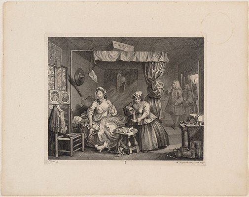 An image of A Harlot's Progress: plate 3 by William Hogarth