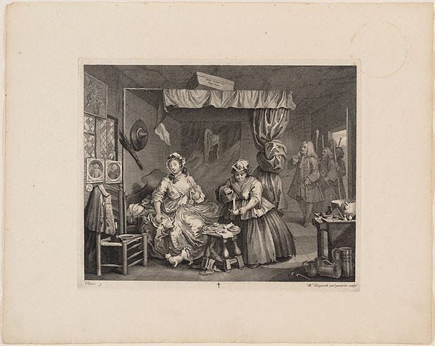 An image of A Harlot's Progress: plate 3