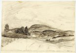 Alternate image of Landscape with rounded hills, Mt Saddleback and Landscape with water and bare tree by Lloyd Rees
