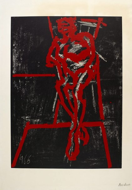 An image of Seated figure by Frank Auerbach