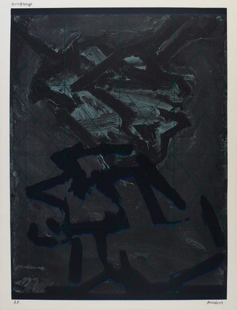 An image of Playing card - two heads J.Y.M. by Frank Auerbach