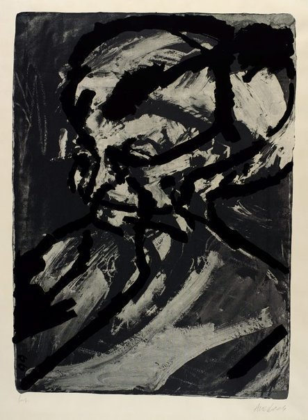 An image of Head of G.B. by Frank Auerbach