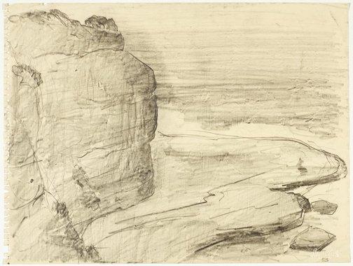 An image of Werri beach headland by Lloyd Rees