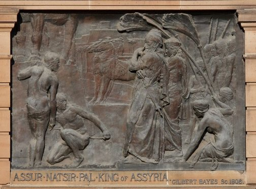 An image of Assur Natsir Pal, King of Assyria by Gilbert Bayes PRBS