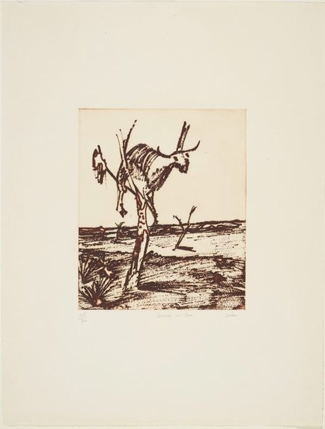 An image of Carcase in tree by Sidney Nolan