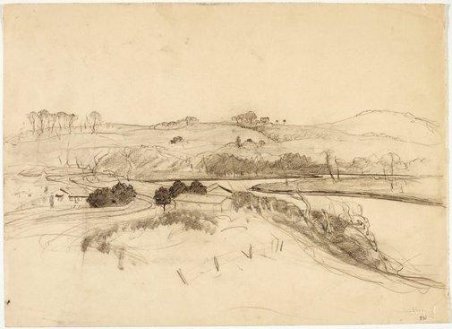 An image of Werri Creek, looking south by Lloyd Rees