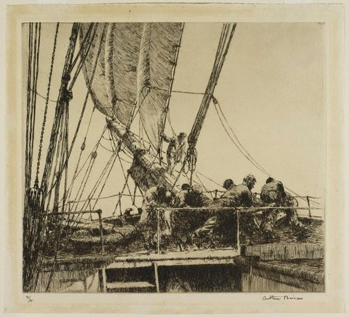 An image of Bound for the Rio Grande by Arthur Briscoe