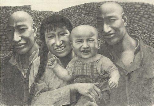 An image of Pencil drawing No. 2 by Fang Lijun