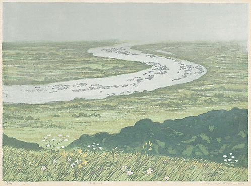 An image of A river of the wetland by Kitaoka Fumio