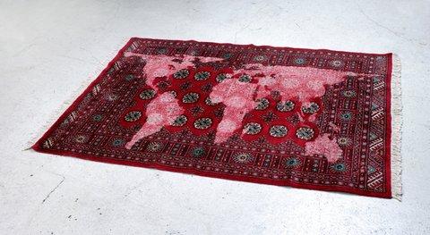 Bukhara (red), 2007 by Mona Hatoum