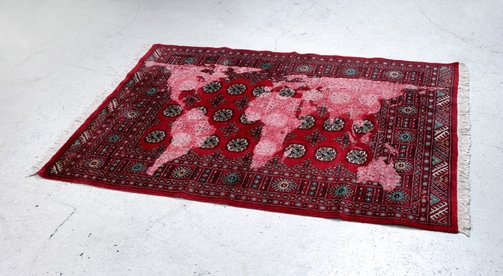 An image of Bukhara (red) by Mona Hatoum