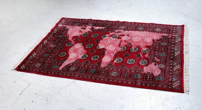 AGNSW collection Mona Hatoum Bukhara (red) 2007