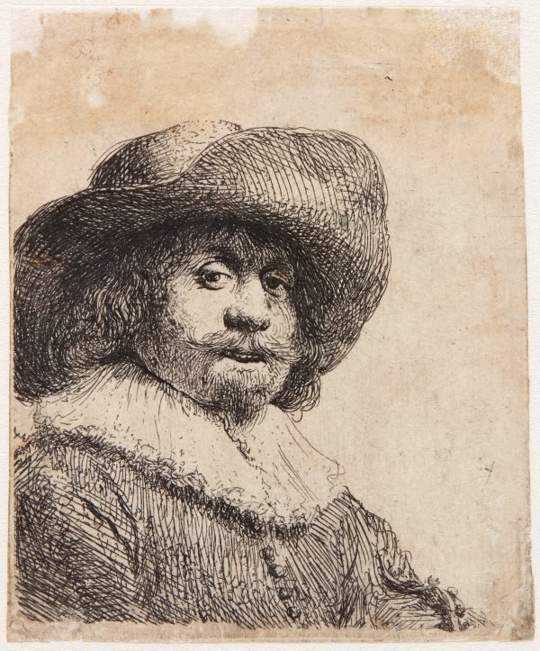An image of Man in broad brimmed hat and ruff