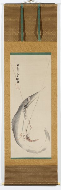 An image of Fish and crayfish by Nagasawa ROSETSU