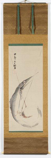 An image of Fish and crayfish by Nagasawa Rosetsu