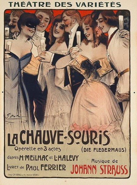 An image of La chauve-souris (Die Fledermaus) by Georges Dola