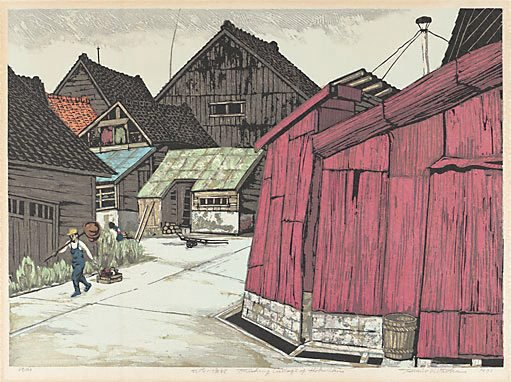 An image of Fishing village of Hokuriku