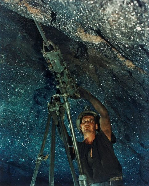 An image of Miner in forward lode, North Mine, Broken Hill, NSW by Wolfgang Sievers