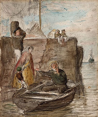 An image of Anxious enquiries by William McTaggart